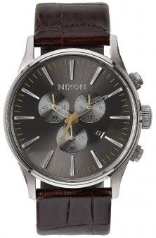 Zegarek Nixon Sentry Chrono Leather Brown Gator A405 1887