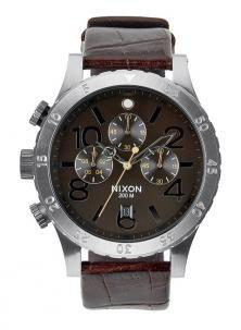 Zegarek Nixon 48-20 Chrono Leather Brown Gator A363 1887