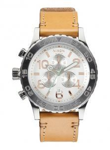 Zegarek Nixon 42-20 Chrono Leather Natural/Silver A424 1603